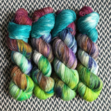 Rainbow Connection Collection *7 Mini-Skein Set* -- Greenwich Village DK yarn -- ready to ship