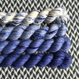 Faded Jeans Set *4 Mini-Skein Set* -- Times Square sock yarn -- ready to ship