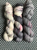 I <3 NY in the RAIN *3 Skein Set*-- dyed to order yarn