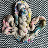 THE COLOR PARROT -- Alphabet City tweed sock yarn -- ready to ship
