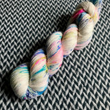 THE COLOR PARROT -- Broadway sparkle sock yarn-- ready to ship