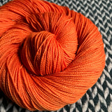IN LIVING CORAL -- Broadway sparkle sock yarn -- ready to ship
