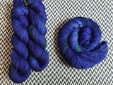 DON'T PANIC, PEACOCK -- Randall's Island merino sport yarn -- ready to ship