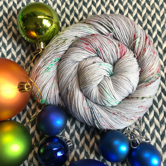 BAUBLE TROUBLE -- Times Square sock yarn -- ready to ship