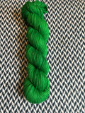 GREEN BROADBILL -- Broadway sparkle sock yarn -- ready to ship