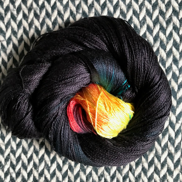 COMET TAIL -- Park Ave silk lace yarn -- ready to ship