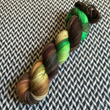 BROWN-HEADED BARBET -- Greenwich Village DK yarn -- ready to ship