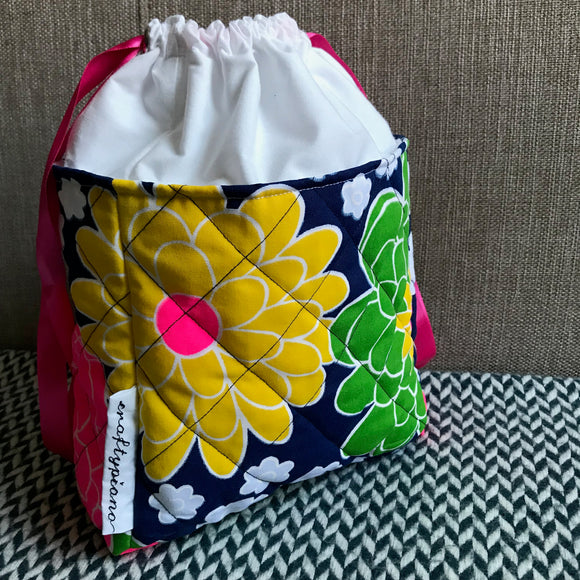 NEON NONNA -- project bag -- ready to ship