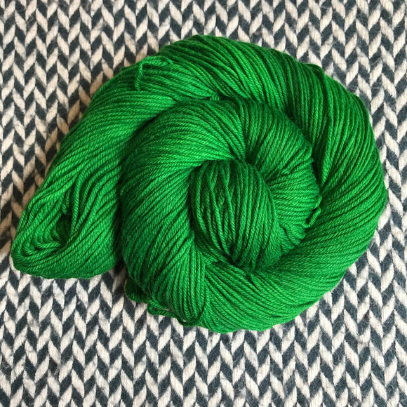 GREEN BROADBILL -- Kew Gardens DK yarn -- ready to ship