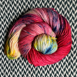 RED VELVET MILKSHAKE -- Kew Gardens DK yarn -- ready to ship