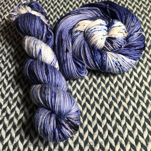 EAU ELECTRIQUE -- Broadway silver sparkle sock yarn -- ready to ship