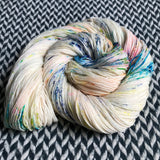 THE COLOR PARROT -- Times Square merino/nylon sock yarn-- ready to ship