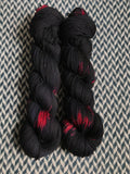 BLACK WIDOW MARTINI -- dyed to order yarn