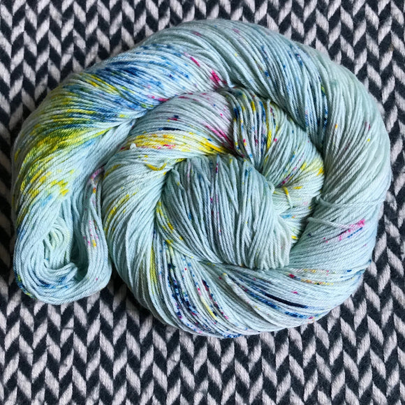 OCEAN OF YOUR BUTTERFLIES -- Times Square sock yarn -- ready to ship