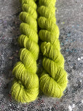 Citron Vert -- mini-skeins -- Broadway sparkle sock yarn-- ready to ship