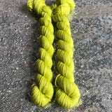 Citron Vert -- mini-skein -- Times Square sock yarn-- ready to ship