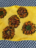 SUNFLOWERS -- hand-painted sock blank -- dyed to order yarn