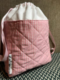 PRETTY IN PINK -- project bag -- ready to ship