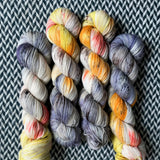 THE LIFE AQUATIC -- Broadway silver sparkle sock yarn -- ready to ship