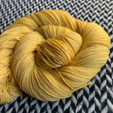 AROUND THE SUN -- Broadway gold sparkle sock yarn -- ready to ship