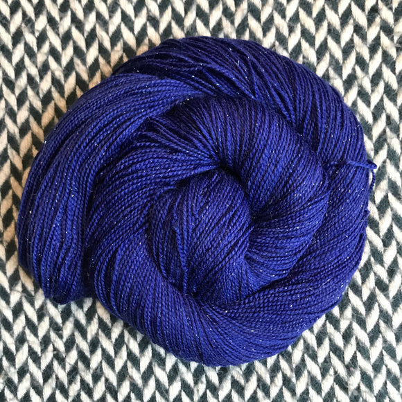 MIDNIGHT MOMENT -- Broadway sparkle sock yarn -- ready to ship