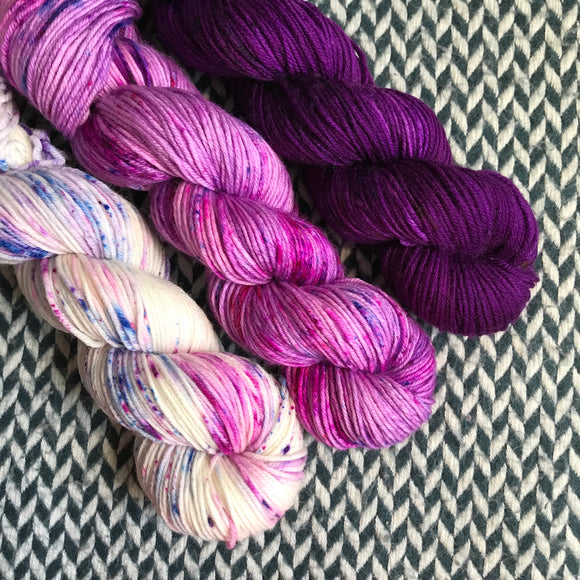HAPPY DANCE *3 Skein Set*-- Greenwich Village DK yarn -- ready to ship