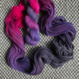 ORCHID MANTIS -- Pelican Bay alpaca bulky yarn -- ready to ship
