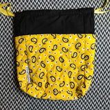 YELLOW PAISLEY -- project bag -- ready to ship