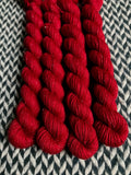 Heart -- mini-skeins -- Broadway sparkle sock yarn-- ready to ship