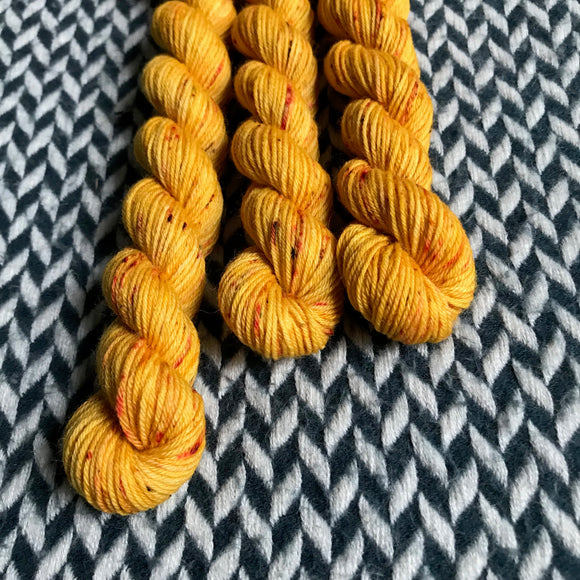 Queen Bee-- mini-skein -- Times Square sock yarn-- ready to ship