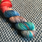 STEAMPUNK MEDUSA -- Greenwich Village DK yarn -- ready to ship