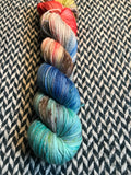 STEAMPUNK MEDUSA -- Times Square sock yarn -- ready to ship