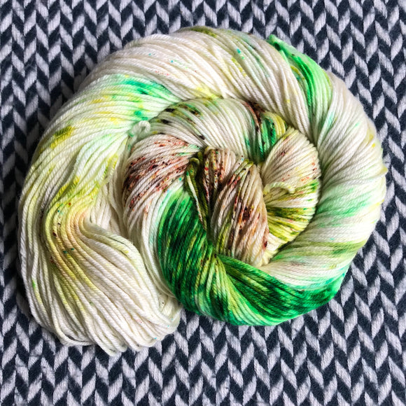 COCONUT LIME -- Greenwich Village merino DK yarn -- ready to ship