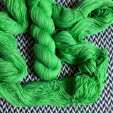 LIME SQUEEZE -- Broadway sparkle sock yarn -- ready to ship
