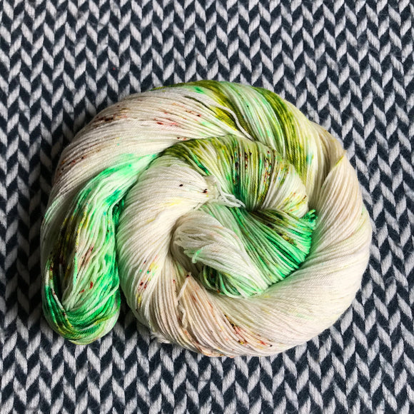 COCONUT LIME-- Times Square sock yarn -- ready to ship