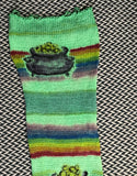 POT OF GOLD -- hand-painted sock blank -- ready to ship
