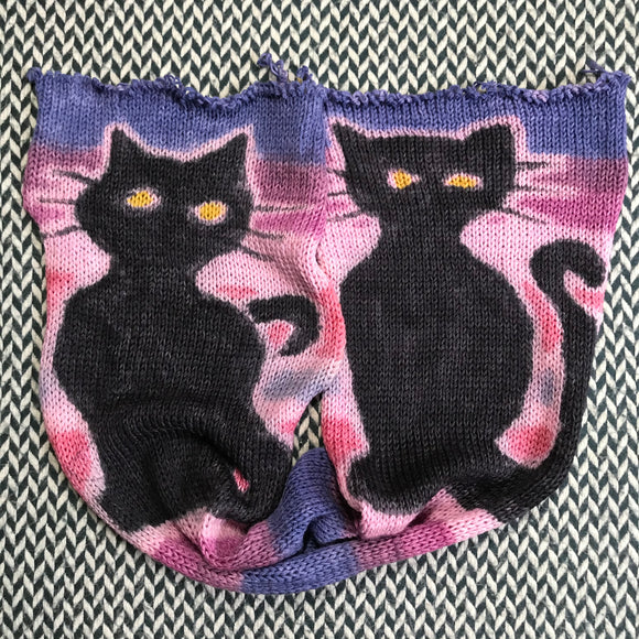 DOUBLE TROUBLE -- hand-painted sock blank -- dyed to order