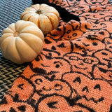 JACK O'LANTERNS -- hand-painted sock blank -- dyed to order yarn