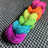 Highlighter Pack *6 Mini-Skein Set* -- Alphabet City tweed sock yarn -- ready to ship