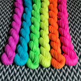 Highlighter Pack *6 Mini-Skein Set* -- Randall's Island sport yarn -- ready to ship