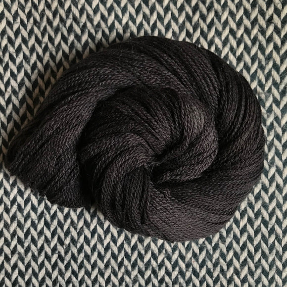 BLACKBIRD -- Astoria merino/alpaca/nylon fingering yarn -- ready to ship