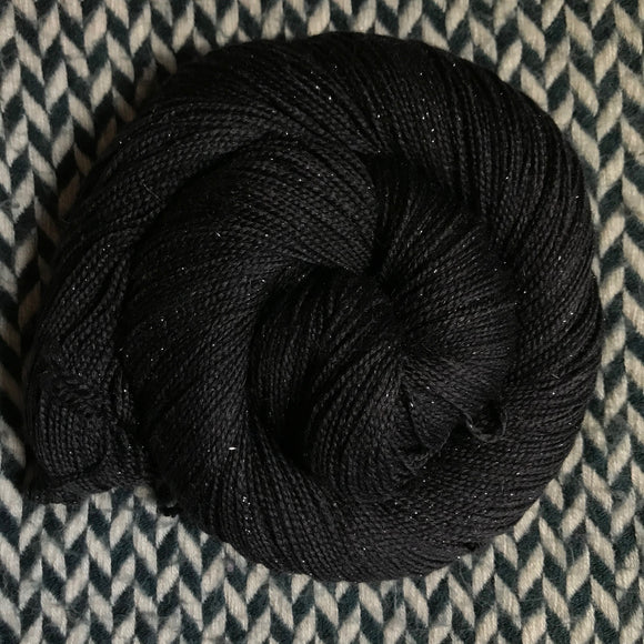 BLACKBIRD -- Broadway sparkle sock yarn -- ready to ship