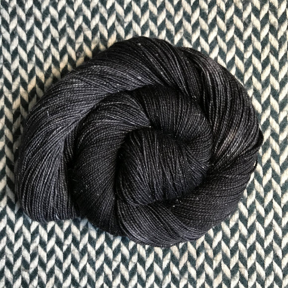 NIGHT SMOKE -- Broadway sparkle sock yarn -- ready to ship