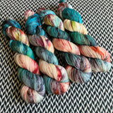 RED-HEADED STEP MERMAID -- dyed to order yarn