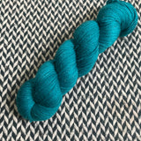 TEAL OWL -- Broadway sparkle sock yarn