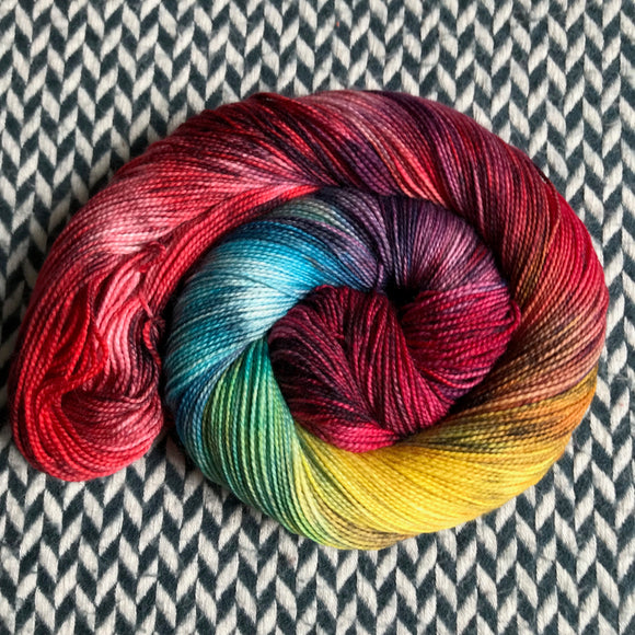 DUSK RAINBOW -- Harlem sock yarn -- ready to ship