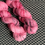 I <3 NY PINK T-SHIRT -- dyed to order yarn