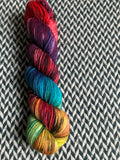 DUSK RAINBOW -- Tribeca sparkle DK yarn -- ready to ship