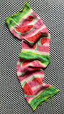 WATERMELON SLICES -- hand-painted sock blank -- dyed to order yarn