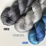 METALLICS -- Park Ave silk lace yarn -- dyed to order